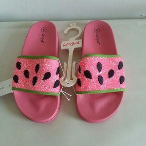 Cat & jack  new sandals sz 6